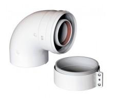 Коаксиальное колено (отвод) Baxi диаметром 60/100 мм